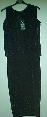 Black maternity party dress  size 12 BOOHOO at Mothercare -BNWT