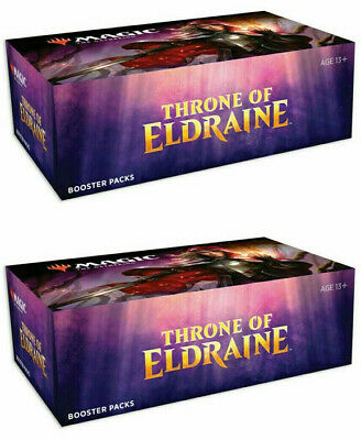 x2 Throne of Eldraine booster boxes magic MTG