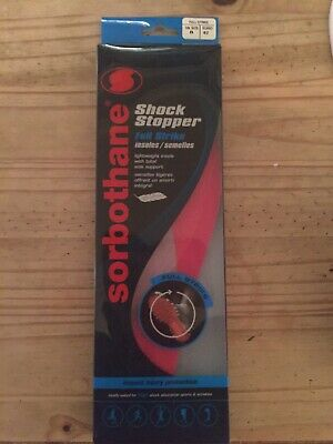 Sorbothane Double Strike Insoles UK8 - Brand New Unopened