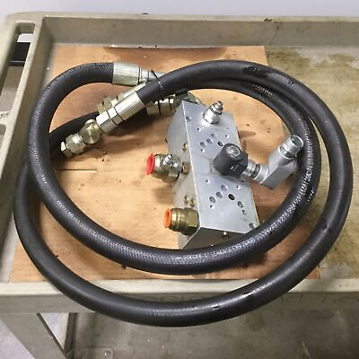 Hydraulic D05 Manifold 2 Position Parallel with 4' Hoses