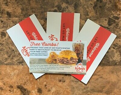 (20) Arby's Combo Meal Cards - Fast Food Meal Certificate - Make an Offer!