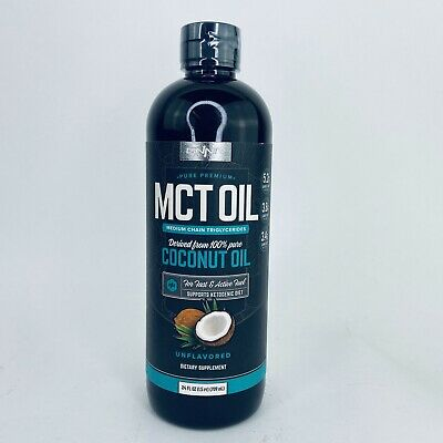 Onnit MCT Oil Coconut Oil Unflavored Dietary Supplement Ketogenic Diet 24 oz