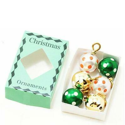 Dollhouse  Pastel Striped Ornaments Christmas Several Colors cld2112 Miniature