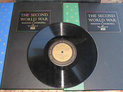 1959 Winston Churchill-Second World War-Wwii-Book Set-War Speech Record -Life