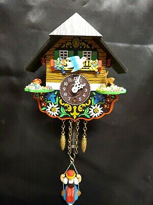 WORKING Miniture Cuckoo Clock Made in Germany Vintage Tourist Trade