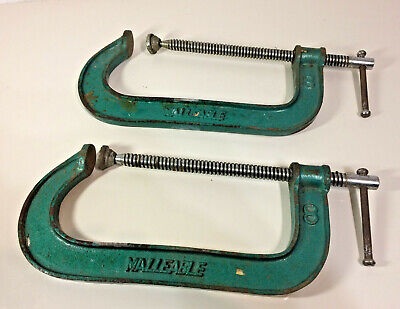 """2 x MALLEABLE 8""""- 200mm G CLAMPS"""