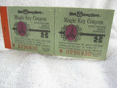 1979 Walt Disney World Adult Magic Key ticket coupon book booklet original 1970s