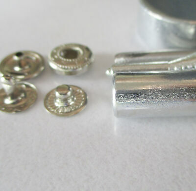 Button Glove Snap fasteners 10mm silver only  Pkt 50