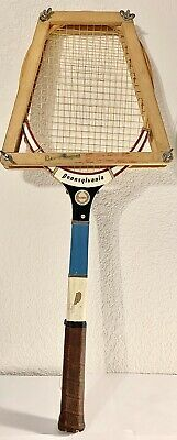 Antique Vintage Tennis Racket by Pennsylvania Classic With Head Press