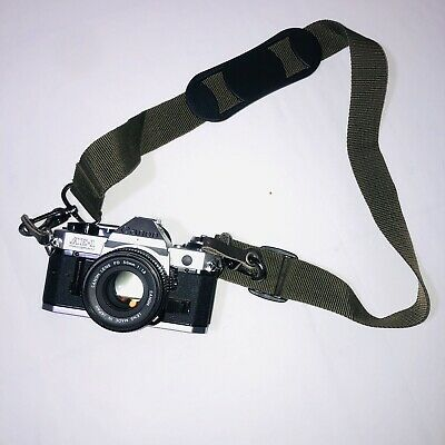 Canon AE-1 Program Camera Outfit with FD 50mm F/1.8 Lens Tested Working VTG film