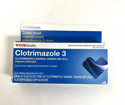 Clotrimazole 3 DayTreatment Vaginal Cream USP (2%) Yeast Antifungal Exp 9/21