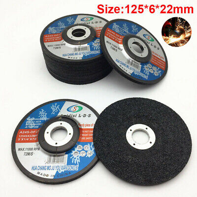 "Grinding Discs Wheels Flap Steel Angle Grinder Cutting Metal New 5"" 125mmx6mm"