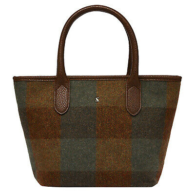 Joules Carey Tweed Womens Bag Hand - Green One Size