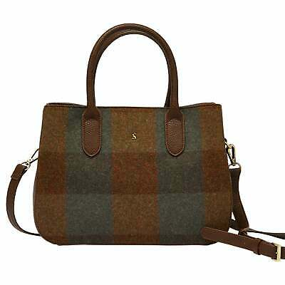 Joules Thernwell Tweed Womens Bag Hand - Green One Size