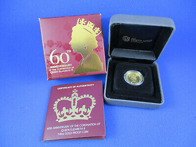 2013 - 60TH ANNIVERSARY OF THE CORONATION OF Q.E II - 1/4oz GOLD PROOF COIN