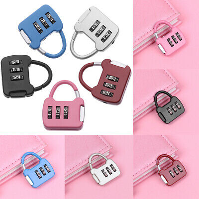 Mini 3 Digit Dial Combination Suitcase Luggage Metal Code Password Lock Padlock