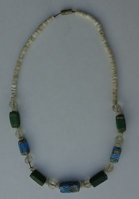 Ancient Medieval Or Islamic Glass Beads Necklace.
