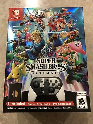 Nintendo Switch Super Smash Bros Ultimate • Collectors Edition • Brand New •