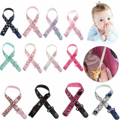 Nipple Pacifier Clip Dummy Soother Leash Holder Strap Chain Kids Baby Teething