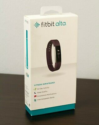 Fitbit Alta Fitness Activity Tracker Stainless Steel Plum Wristband Pedometer