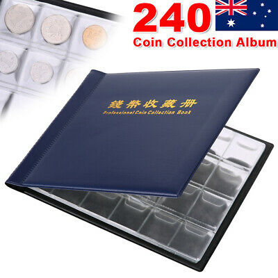 2X 240 Slots Coin Album Holder Storage Book Collection Collecting Pocket Sleeves
