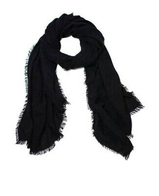 Faded Glory Women's One Size Oversize Black Soot Solid Wrap Scarf NWT