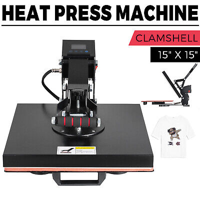 "15""x15"" DIGITAL Heat Press Machine T-shirts HTV Transfer Sublimation Clamshell"