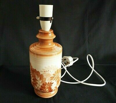 """Jersey Pottery Hand Painted 10.1/2"""" Lamp Base"""