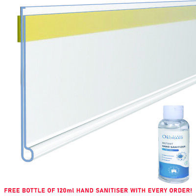 Clear Shelf Edge Ticket Strips, Self Adhesive. Various Sizes, GREAT PRICE!