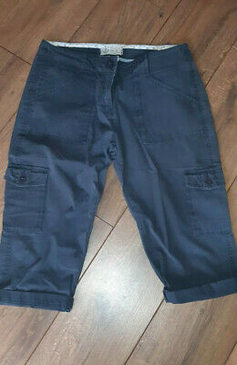 Fat Face  3/4 CARGO Trousers size UK 12 NAVY BLUE