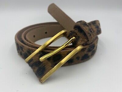 Fiorelli FB030 Animal Leopard Print W/ Gold / Bronze Buckle Fluffy Belt SM 10-12