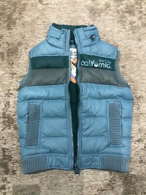 CaliSurf Co gillet 90% down 10% feather XS hood SUPERDRY