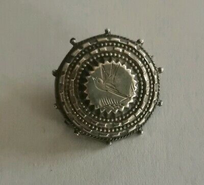 Antique small silver aesthetic movement Victorian brooch