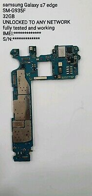Original Samsung Galaxy S7 Edge motherboard G935F 32GB Unlocked fast UK delivery