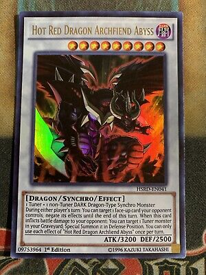 Yugioh Hot Red Dragon Archfiend Abyss HSRD-EN041 Ultra Rare 1st Edition