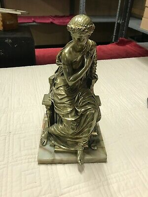 19C French Bronze On Marble By E.h. Dumaige W/ Marble Base