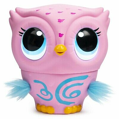 Owleez Flying Baby Owl Interactive Toy with Lights Sounds Pink Fly Girls