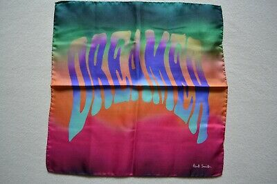 Paul Smith Mens Silk Dreamer Pocket Square Brand New