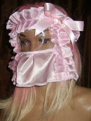Prissy Sissy Maid CD/TV see through glittery plastic Mincing Slave mask