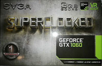 EVGA NVIDIA GeForce GTX 1060 3GB SC GAMING - 03G-P4-6162-KR