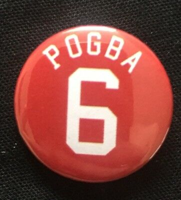 "Pogba 6 Badge 25mm 1"" Pin Button Badge Manchester United Football"