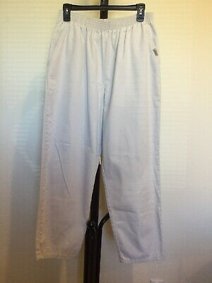 New Women's Chic 100%cotton Ivory/beige Elastic Pull On Pants Petite Size 16P