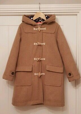 Mini Boden Girls Oatmeal Duffle Coat.  Age 7-8 years