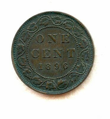 Canada  ~ 1896 ~ Large Cent ~ Xf