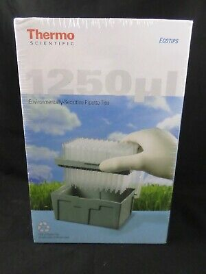 THERMO SCIENTIFIC 1250µL Pipette Eco Tip Refill 10 Trays of 96 Non-Sterile #8046