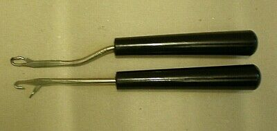 Pair of Vintage Rug Hooks With Bakelite Handles (B51)