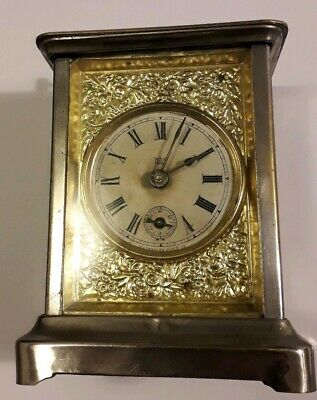 Antique Waterbury Mantle / Carriage Clock w/ Alarm, Patented 1878