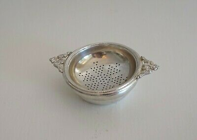 Vintage Silver Plated EPNS Tea Strainer & Base Stand Holder as found