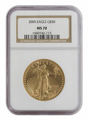 $50 1 oz American Gold Eagle MS70 - PCGS or NGC (Random Date)