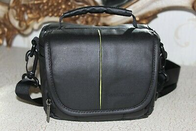 "SANDSTROM  Black  rubber coated  fabric  Camera Bag Inside size 6"" x 3"" x 3"" NEW"